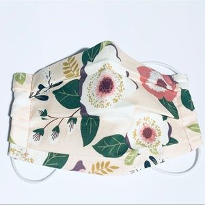 Other - Kids Summer Floral Cloth Reusable Face Mask Pink
